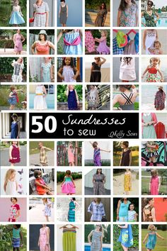 50 links to make a DIY sundress for girls and women.