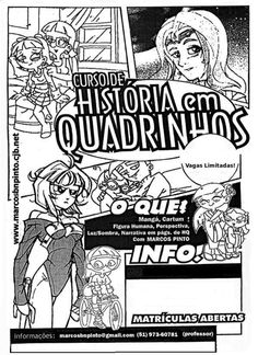 Poster/folder artwork for the Manga and Cartoon courses I teach( since 1984 )in Brazil.
