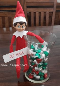 Elf on the shelf easy and creative ideas easy elf on the shelf ideas Are you looking for easy and creative Elf on the Shelf Ideas and scenarious so you can keep the magically christmas Traditions? Magical Christmas, Christmas Elf, Christmas Ideas, Christmas 2019, Elf Christmas Decorations, Office Christmas, Christmas Carol, Christmas Crafts, Elf Auf Dem Regal