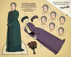 Dowager Countess paper dolls.  I love the wide range of emotions!