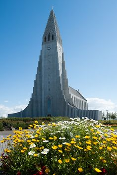 The Church of Hallgrimur, in central Reykjavik