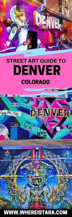 Denver Street Art Guide Including RiNo - Where Is Tara? - - The Denver street art scene is BOOMING. The RiNo or River North Arts District is THE place for street art in Denver. Denver Colorado, Visit Colorado, Denver City, The River, Denver Donkeys, Santa Fe, Best Street Art, Usa Street, Travel Usa