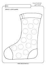 Dokresli kruhy na ponožku. Christmas Stockings, Activities, Holiday Decor, Needlepoint Christmas Stockings, Christmas Leggings, Stockings
