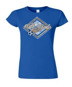 Netherlands Football World Cup Ladies Retro Soccer T-Shirt available at http://www.world-cup-products-worldwide.com/netherlands-football-world-cup-ladies-retro-soccer-t-shirt/