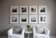white frame wall gallery