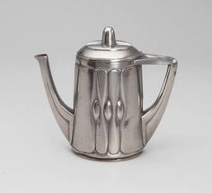 Pewter teapot by Peter Behrens (German, 1868-1940), c. 1901. Collection of the Museum of Modern Art