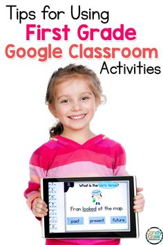 Find ideas and tips for first grade Google Classroom activities for ELA centers. Teaching grammar in first grade can be challenging especially with distance learning. Whether you are teaching plural nouns, future verb tenses, ending punctuation, commas in a series, adjectives, articles, or subject verb agreement, this post will show you practical teaching strategies for helping students to improve their writing skills. Find helpful tips for using technology in the classroom in elementary. Grammar Activities, Teaching Grammar, Classroom Activities, Classroom Hacks, Listening Activities, Vocabulary Games, Teaching Spanish, Classroom Organization, Teaching First Grade
