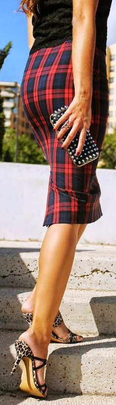 Must Have # Tartan And Pencil Skirts by Coohuco