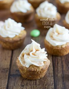Carrot Cake Cookie Cups with a Cream Cheese Frosting
