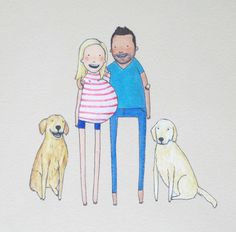 13 best hand drawn family portraits images on pinterest family