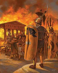 Romans sacking a greek city