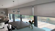 Electric Blinds for BiFold Doors and Sliding Doors supplied and fitted in Hampshire, Surrey and London by Electric Blind Experts, The Electric Blind Company Curtains For Bifold Doors, Blinds For Large Windows, Blinds For French Doors, Glass Door Curtains, Patio Door Blinds, Sliding Door Blinds, Curtains With Blinds, Sliding Glass Door, Windows And Doors
