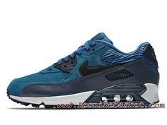 pretty nice eb547 8ec0d Chaussures Femme Enfant Nike WMNS Air Max 90 LTR Squadron Blue 768887 401 Nike  Pas cher