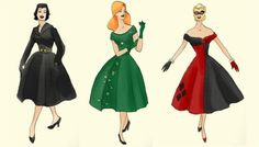 The Gotham Sirens in Beautiful 50s dresses.