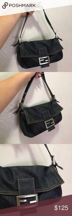 FENDI DENIM BAG PURSE CUTE 100% AUTHENTIC 100% authentic denim FENDI handbag Fendi Bags