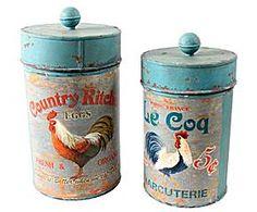 Conjunto de potes country charm