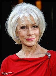 Short Straight Bob Hairstyles for Older Women Over 60