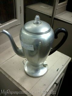 My Repurposed Life™: Vintage Coffee Pot Lamp (repurposed)