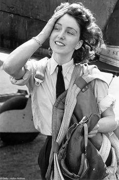 Unknown female RAF pilot.