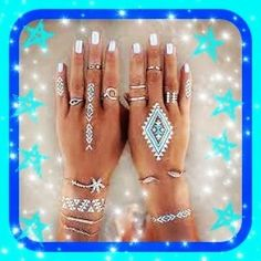 I'm loving the foil tattoos!   #tattoo #foils #photooftheday #potd #pictureoftheday #picoftheday #style #fashion #mystyle #hands #pretty #prettygirl #rings #bracelet #food #saturday #saturdaynight #saturdayfun #ghostbusters #selfie #supplements #mirror #happy #friend #like4like #design #nails #diamond #fabulous by truenourishmentwithjen