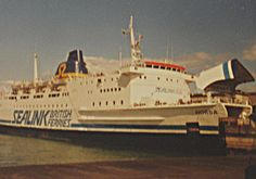 The Rise and Fall of Sealink Ferries by Ferry Crossings. Sealink Horsa at Dun Laoghaire