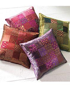 Patchwork Brocade Cushion