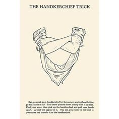 Buyenlarge 'The Hankerchief Trick' by Harry Houdini Vintage Advertisement Size: