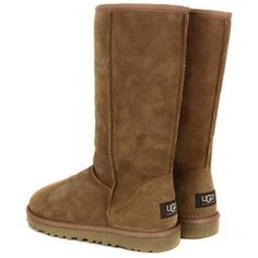 ugg classic tall chestnut boot from coggles via polyvore