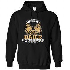 BAIER . Team BAIER Lifetime member Legend  - T Shirt, H - #gift for girlfriend #handmade gift. SECURE CHECKOUT => https://www.sunfrog.com/LifeStyle/BAIER-Team-BAIER-Lifetime-member-Legend--T-Shirt-Hoodie-Hoodies-YearName-Birthday-7628-Black-Hoodie.html?68278
