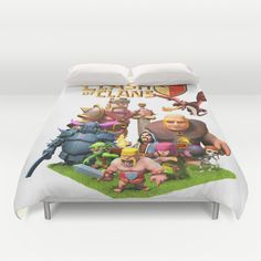 clash of clans best for gift Duvet Cover by customgift - $99.00