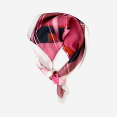 Pink Balloons printed silk scarf (limited edition)