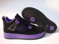 on sale aa11a 87314 Air Jordan Fusion 4 Women Shoes Black Purple - Authentic Jordans For Women