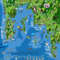 Krabi Koh Phi Phi Map