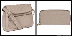Travelon Anti-Theft Quilted Convertible Handbag with RFID Wallet, Champagne #Travelon #MessengerCrossBody
