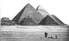 An image of the Pyramdis taken in the 1880s
