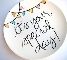 It's Your Special Day Large Plate by Aedriel by AedrielOriginals