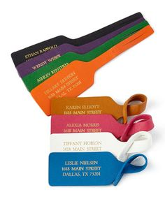 Personalized+Luggage+Tags,+Set+of+2+by+Graphic+Image+at+Horchow.