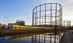… and the Bethnal Green gas holders today.