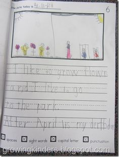 I like this writing paper.  The editing checklist is at the bottom and includes checking for spaces, sight words, capital letters, and punctuation.