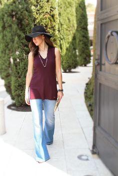 Fall Fashion: Burgundy + Flare Jeans