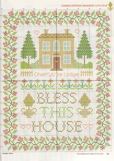 Bless This House free cross stitch pattern