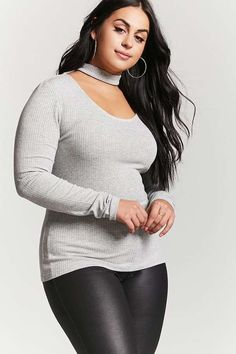 FOREVER 21+ Plus Size Choker Neck Top #plussize #fashionaddict #trends #fashion #trendsetter aff
