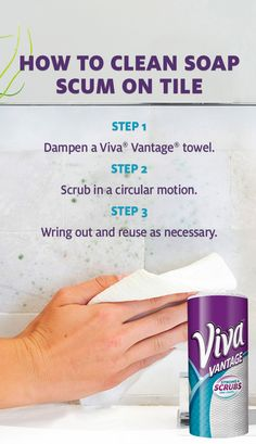 Soap scum, toothpaste and scuzzy gunk can splatter on your bathroom tile. Make clean up easy with the scrubbing power of Viva® Vantage® paper towel. Conquer the most important room in your house!