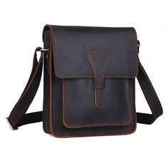 Men's Rustic Genuine Leather Messenger Shoulder Bag Small Cross Body Satchel New | eBay