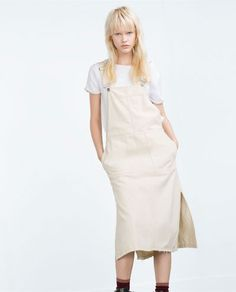 Image 4 of DENIM PINAFORE DRESS from Zara