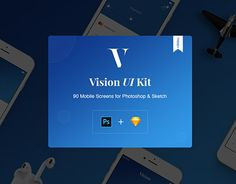 """Check out new work on my @Behance portfolio: """"Vision Mobile UI Kit with Trial Version"""" http://be.net/gallery/50514273/Vision-Mobile-UI-Kit-with-Trial-Version"""