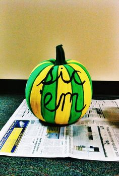 """Sic"" Baylor pumpkin! #SicEm"
