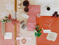 pretty elements for winter packages