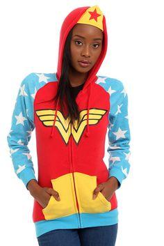 Hoodies | Clothing  Hot Topic  http://www.hottopic.com/hottopic/Apparel/Hoodies//DC+Comics+I+Am+Wonder+Woman+Girls+Hoodie-332031.jsp#