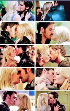 captain swan kisses